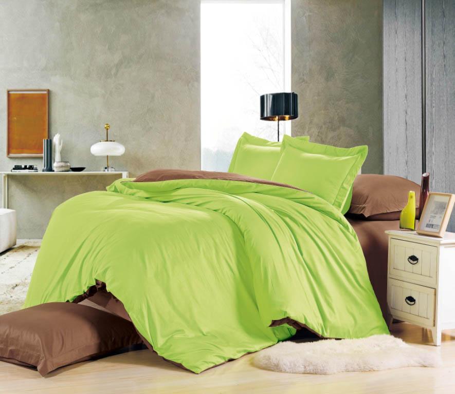Купить Комплекты постельного белья Valtery, Постельное белье Elea (семейное), Китай, Зеленый, Коричневый, Хлопковый сатин