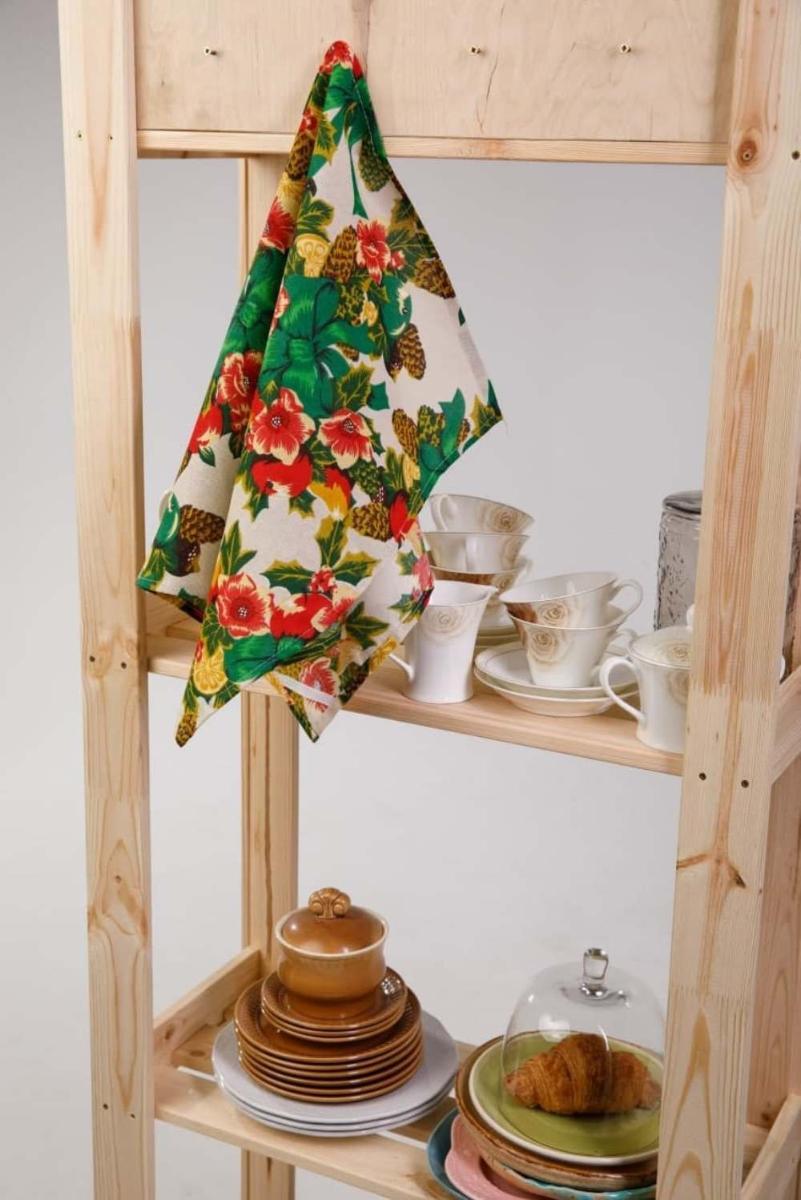 Кухонное полотенце Сочельник цвет: зеленый (45х73 см - 2 шт)