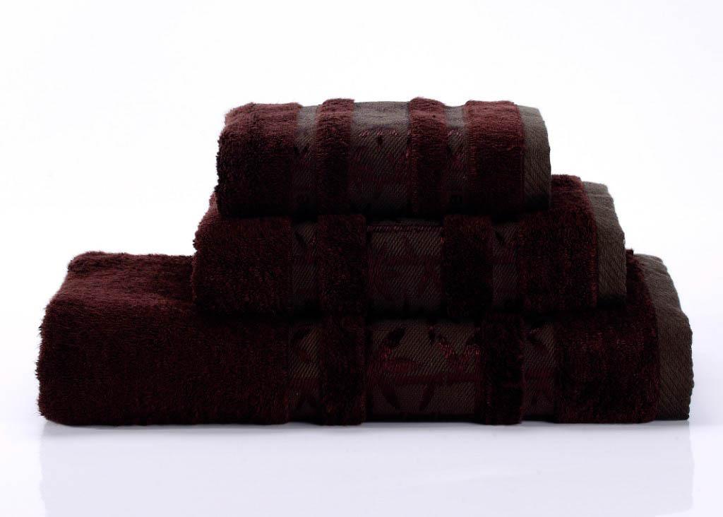 Полотенца Valtery Полотенце Bamboo PR Цвет: Винный (70х140 см)