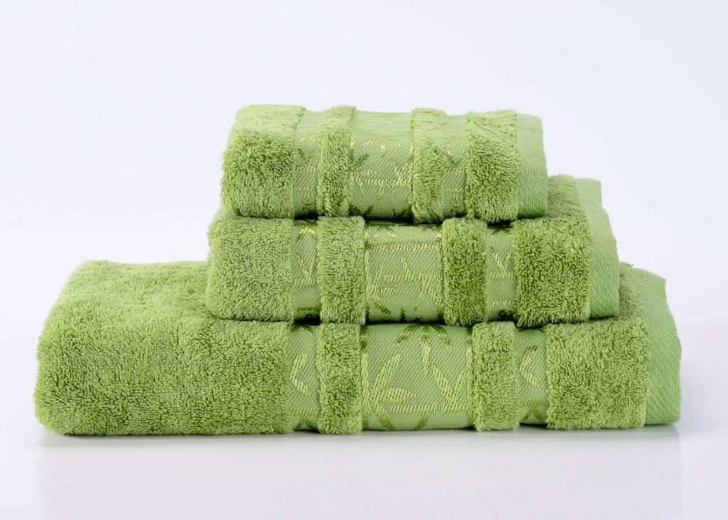 Полотенца Valtery Полотенце Bamboo PR Цвет: Зеленый (70х140 см) tac полотенце леопард талисман сочи 2014 70 140 bamboo зеленый