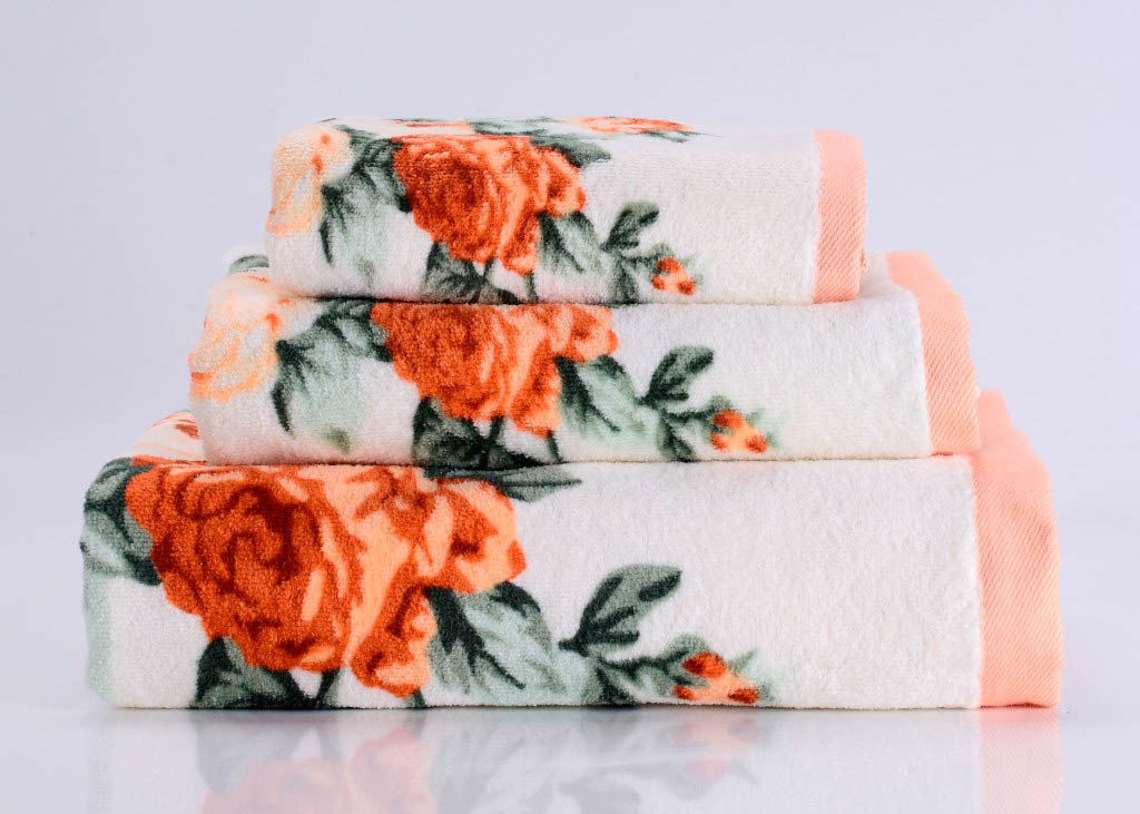 Купить Полотенца Valtery, Полотенце Rosy Цвет: Оранжевый (70х140 см), Китай, Махра