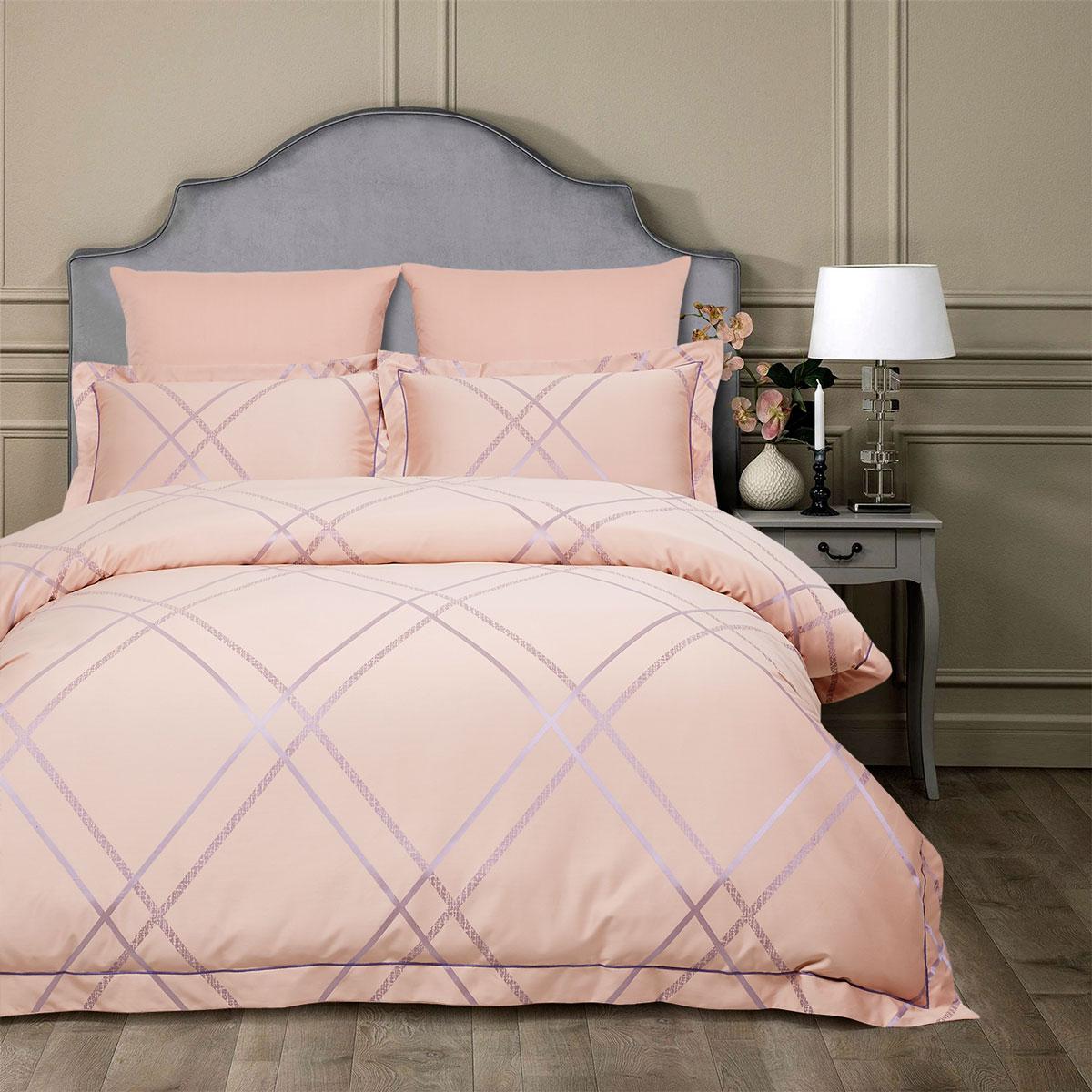 Купить Комплекты постельного белья Arya, Постельное белье Pia (2 сп. евро), Турция, Розовый, Бамбуковый сатин