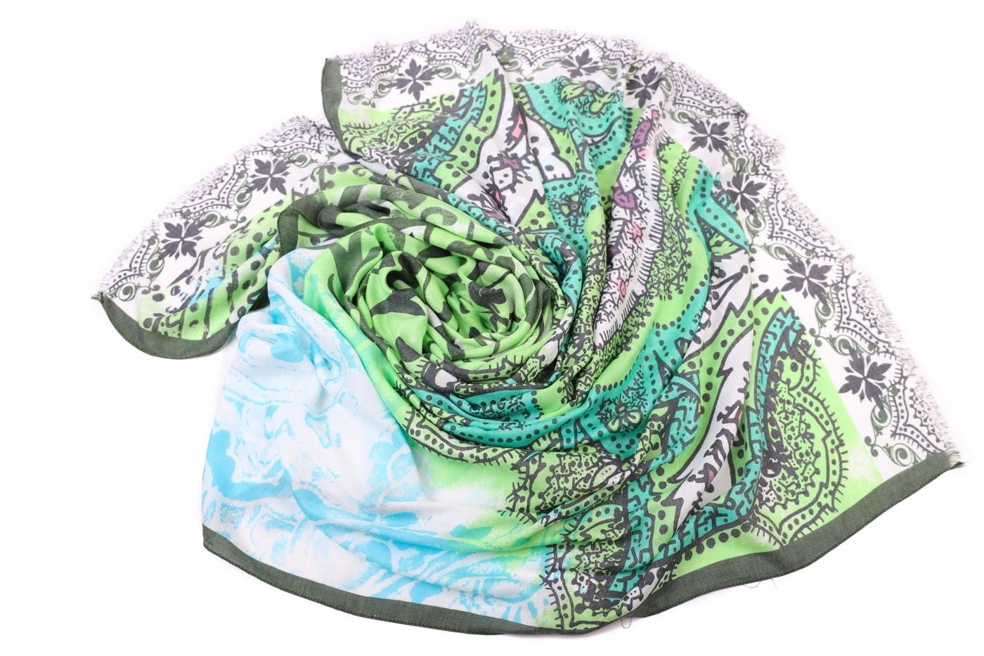 Накидка-палантин Allie Цвет: Салатовый (100х180 см) фото