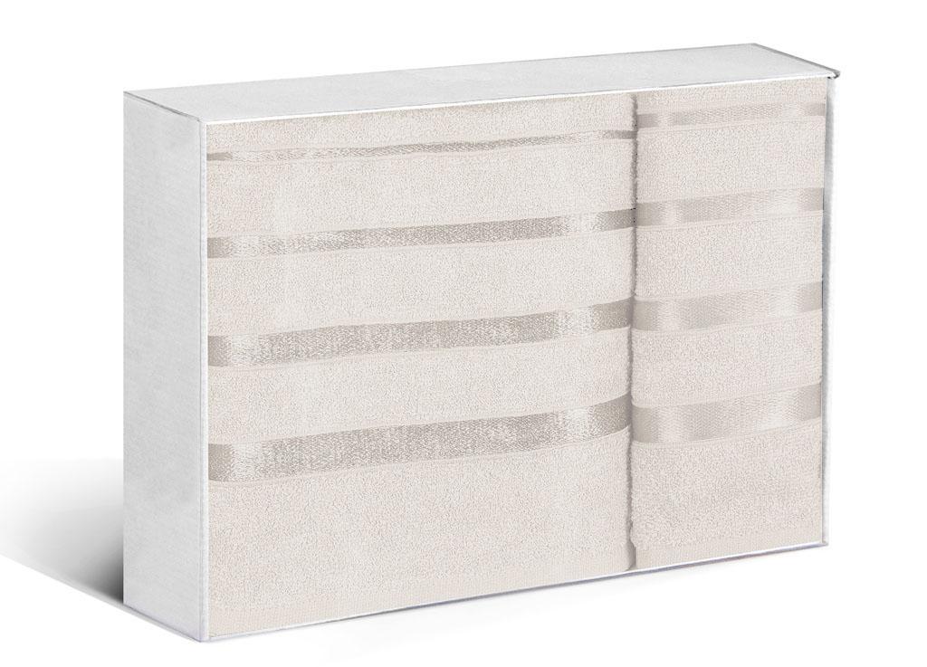 Купить Полотенца Soavita, Полотенце Шантони Цвет: Кремовый (50х88 см, 65х138 см), Китай, Махра