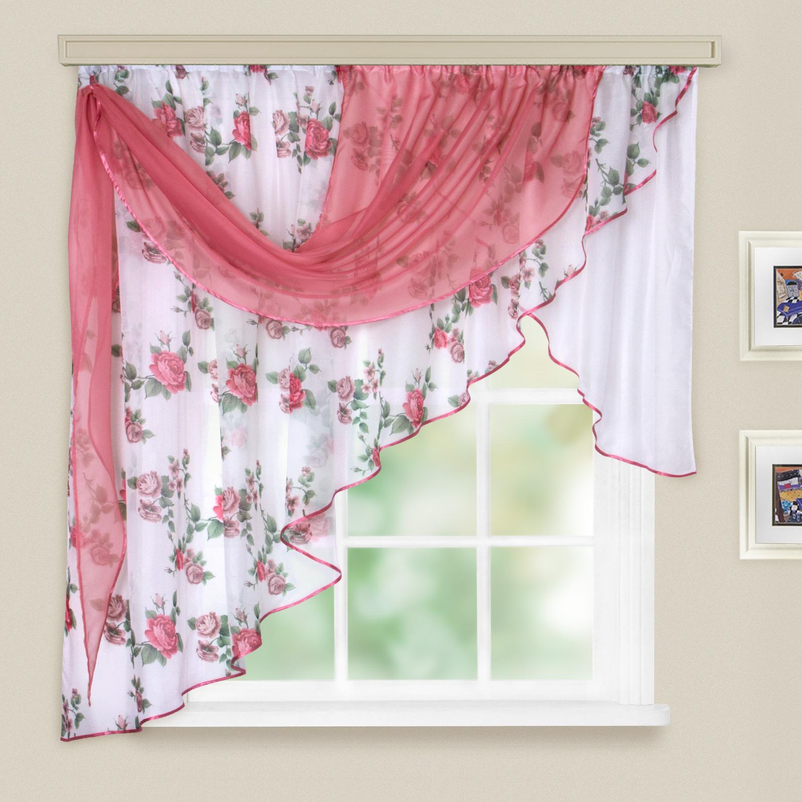 Купить Шторы Witerra, Классические шторы Мелодия Цвет: Красный, Россия, Вуаль