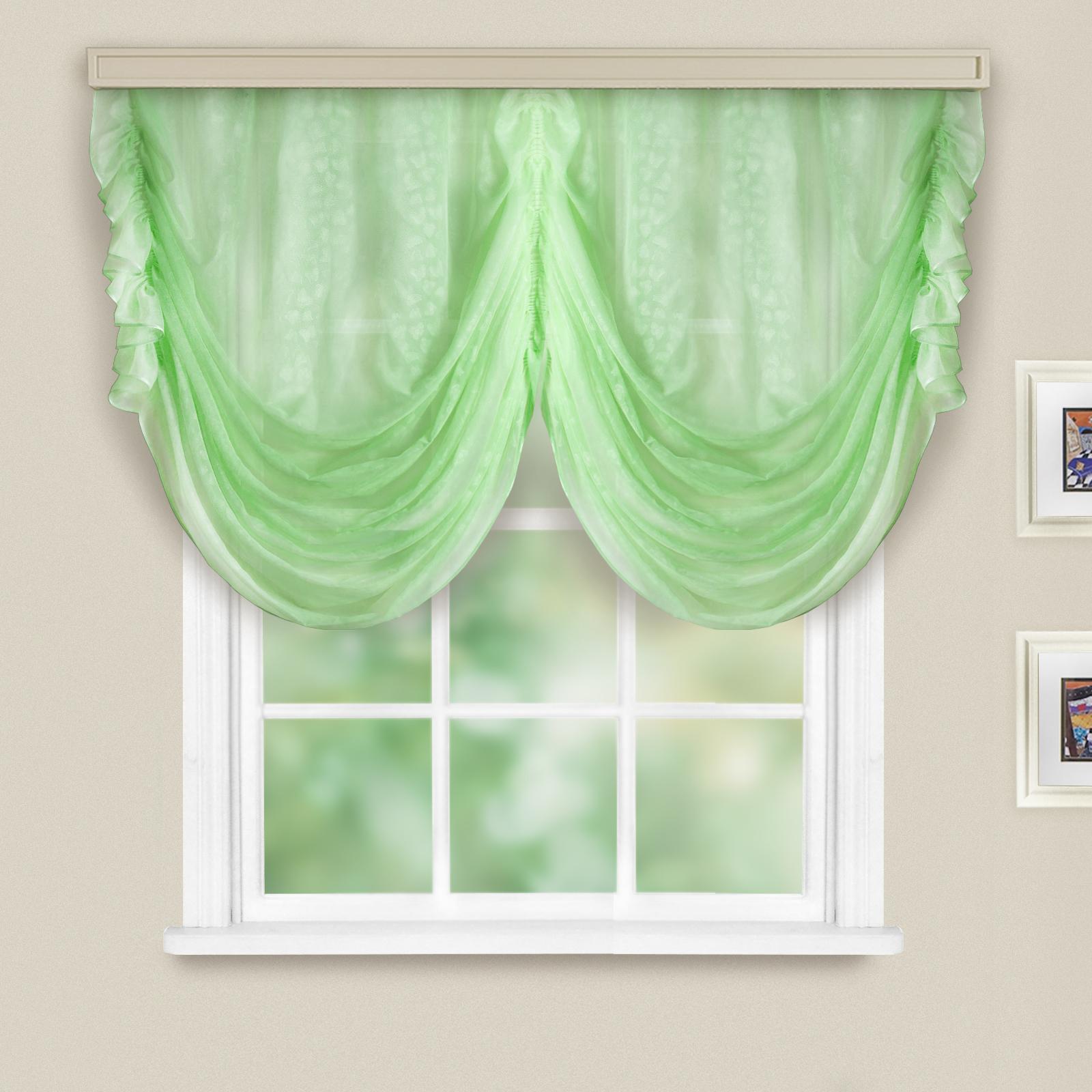 Купить Шторы Witerra, Французские шторы Alexis Цвет: Светло-Зеленый, Россия, Вуаль