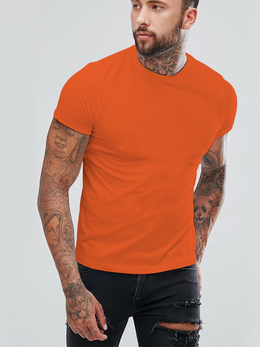 Футболка мужская Basic цвет: оранжевый (56) Eleganta ena802215