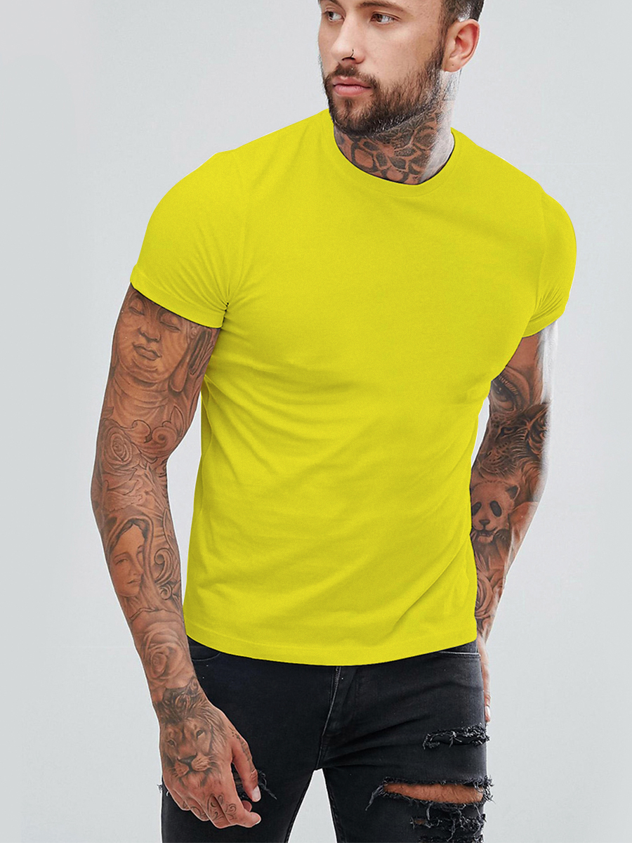 Футболка мужская Basic цвет: желтый (54) Eleganta ena802204