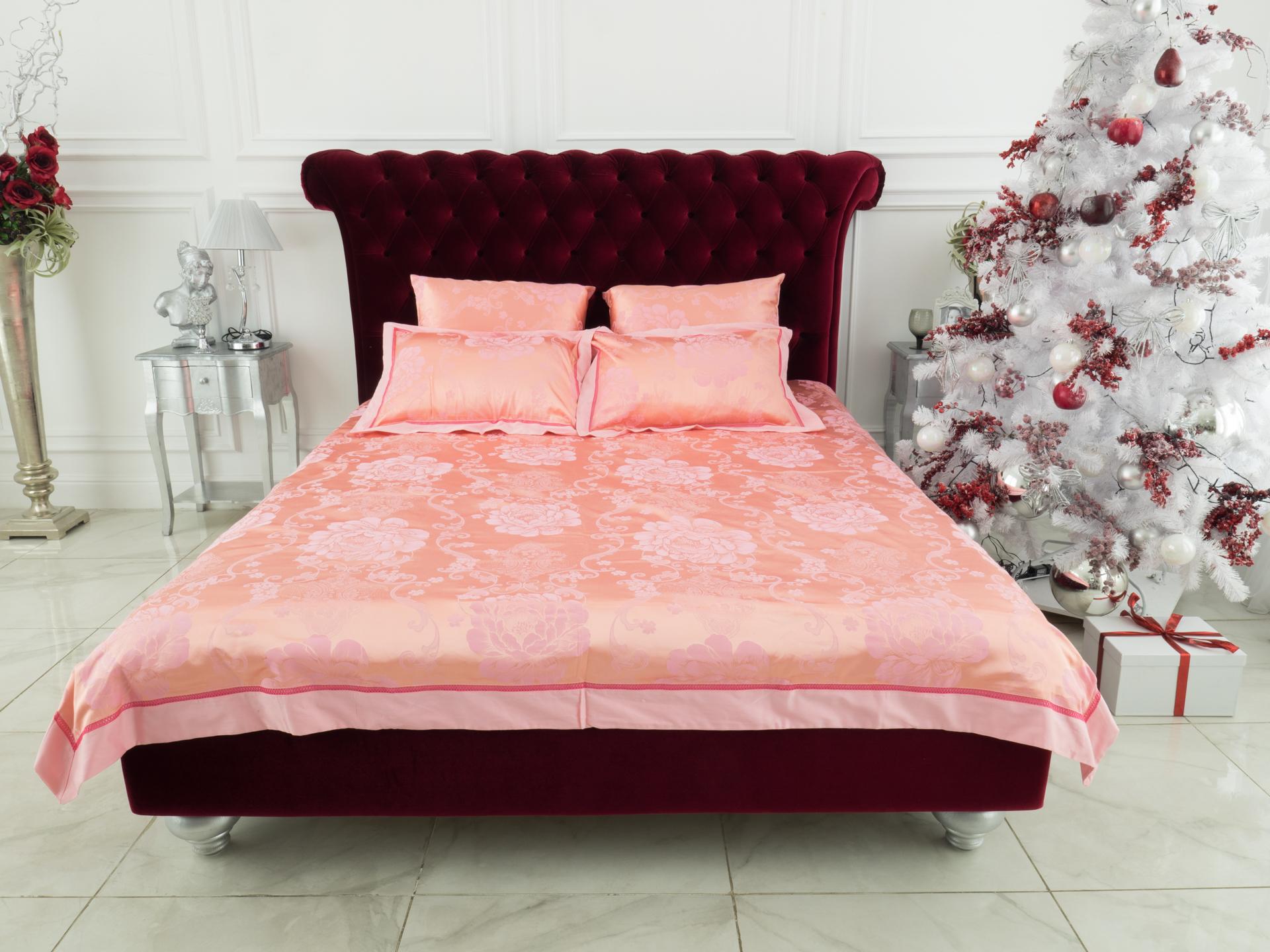 Купить Комплекты постельного белья Mioletto, Постельное белье Kerensa (2 сп. евро), Китай, Розовый, Хлопковый сатин