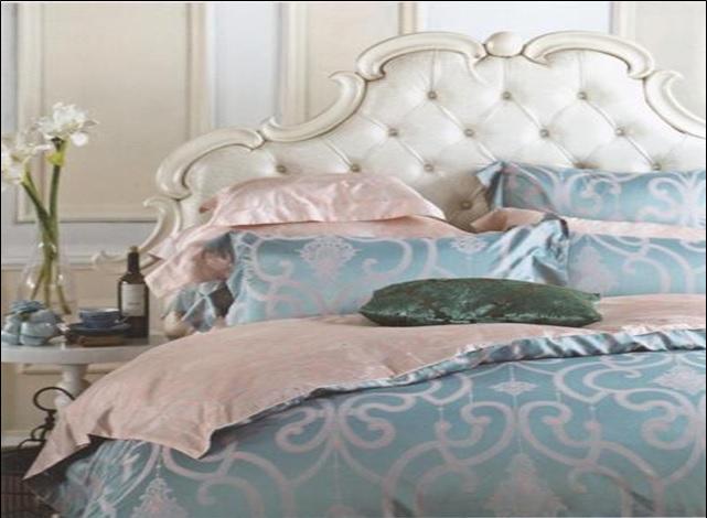 Комплекты постельного белья SL, Постельное белье Jaydon (2 сп. евро), Китай, Голубой, Розовый, Хлопковый сатин  - Купить