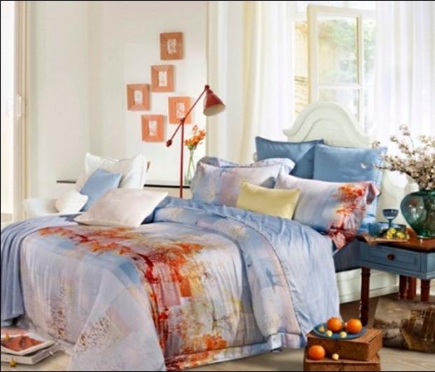 Купить Комплекты постельного белья SL, Постельное белье Sarah (2 сп. евро), Китай, Голубой, Модал