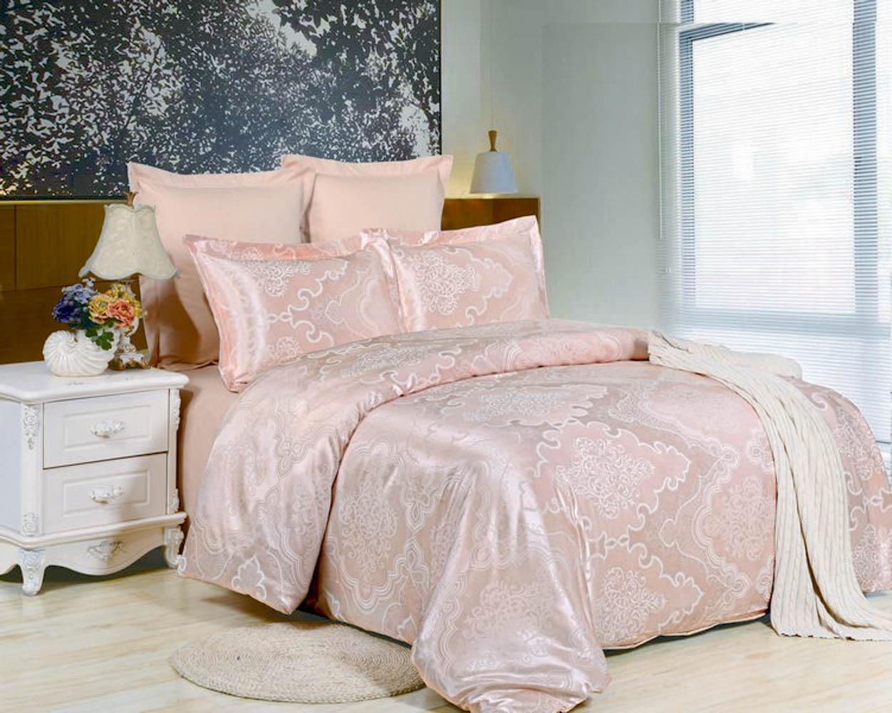 Купить Комплекты постельного белья Valtery, Постельное белье Rhetta (семейное), Китай, Розовый, Хлопковый сатин