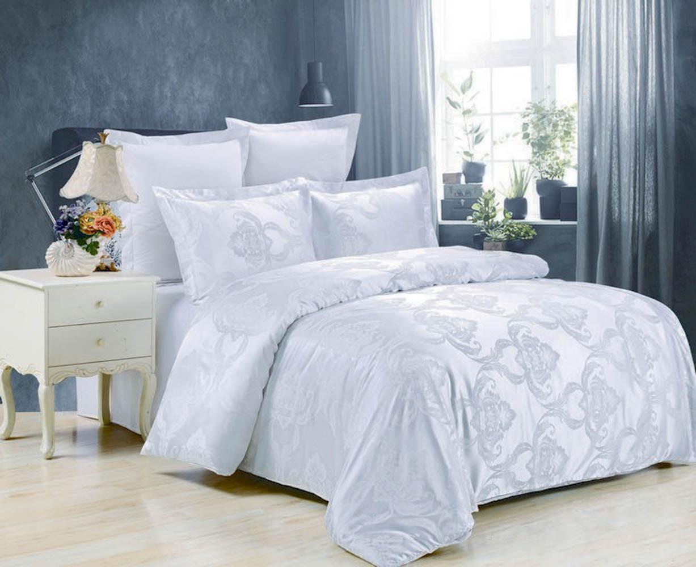 Купить Комплекты постельного белья Valtery, Постельное белье Andrea (семейное), Китай, Белый, Хлопковый сатин