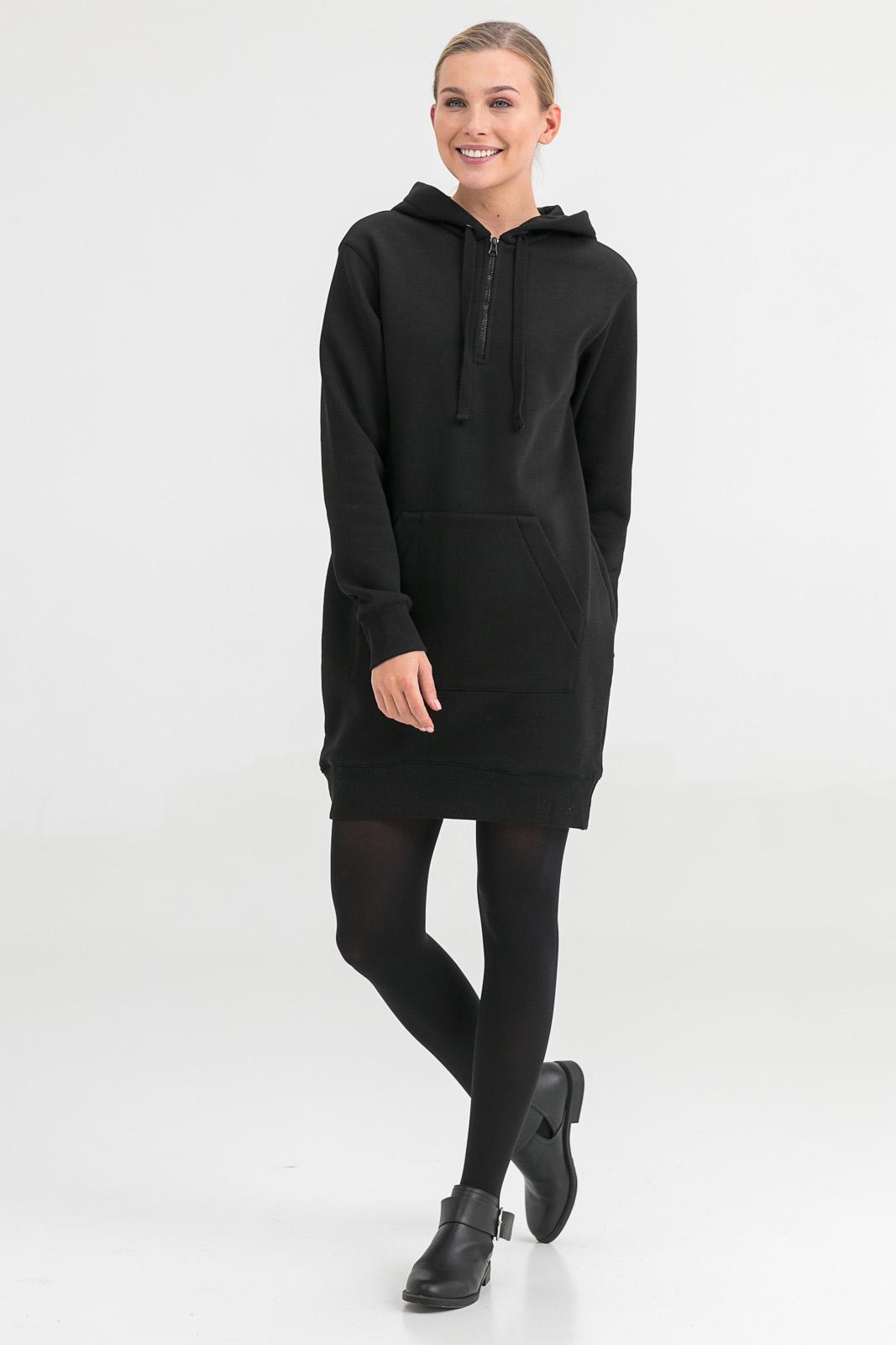 Платье-худи с начесом Imri Цвет: Черный (42) фото