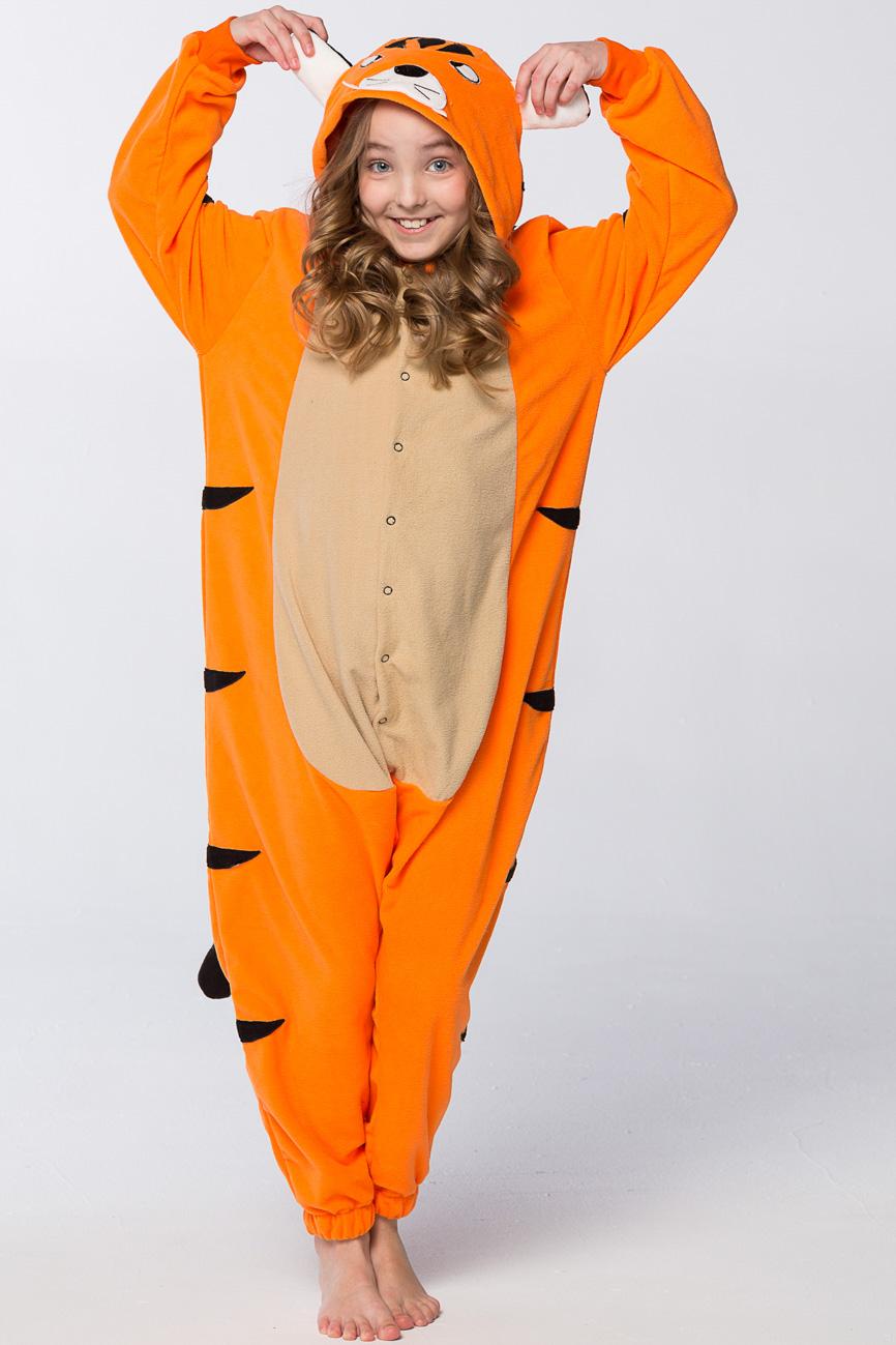 Детская пижама-кигуруми Тигр (6-8 лет) фото