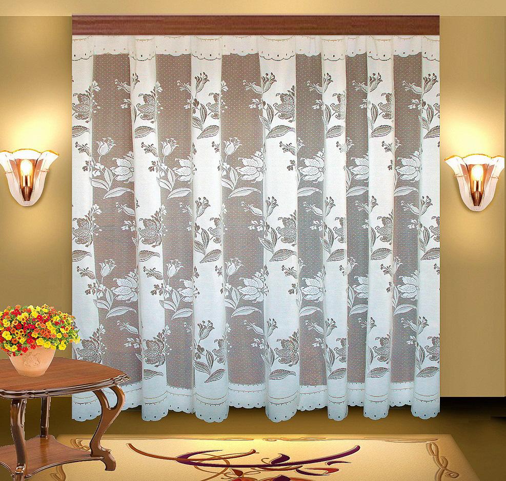 Купить Шторы Elegante, Классические шторы Dot Цвет: Белый, Китай, Тюль
