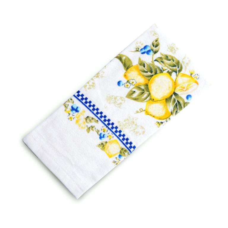 Полотенца Valtery Кухонное полотенце Лимоны (38х63 см) полотенце bon appetit кухонное махровое жуки 38х63 см печатн