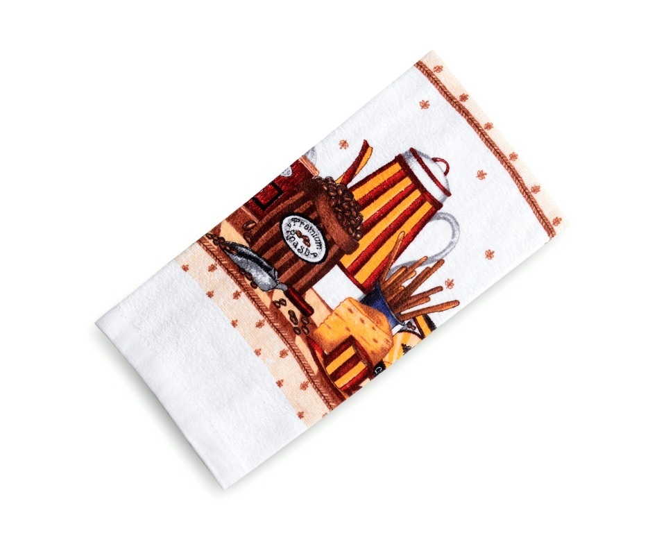 Полотенца Valtery Кухонное полотенце Кофе (38х63 см) полотенце bon appetit кухонное махровое жуки 38х63 см печатн