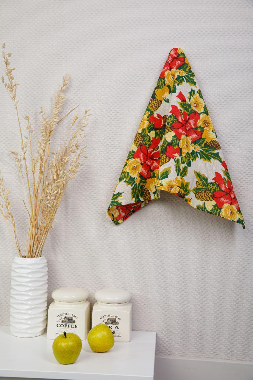 Кухонное полотенце Сочельник цвет: красный (45х73 см)