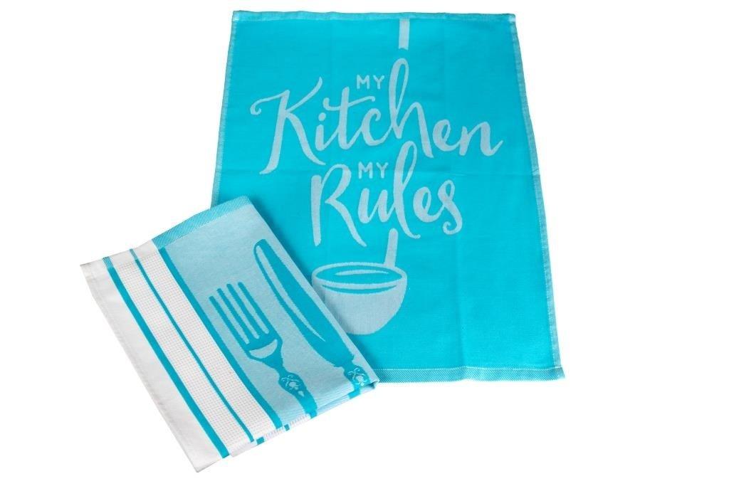 Полотенца Toalla Кухонное полотенце Kitchen Rules (40х60 см - 2 шт) bon appetit кухонное полотенце cake цвет голубой 40х60 см 2 шт