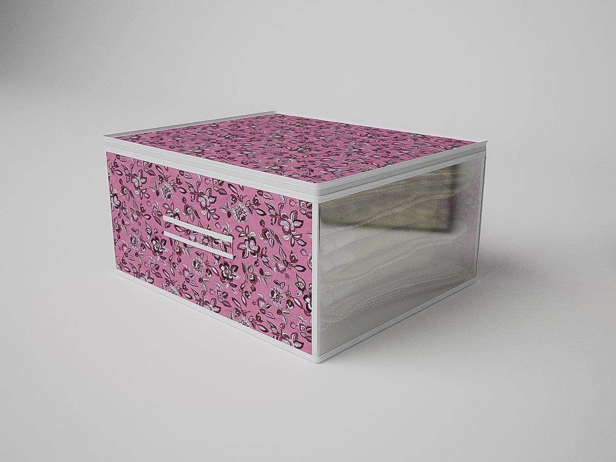 Купить Органайзеры и кофры CoFreT, Кофр для хранения Зефирка (30х50х60 см), Россия, Розовый, Полимер, Спанбонд