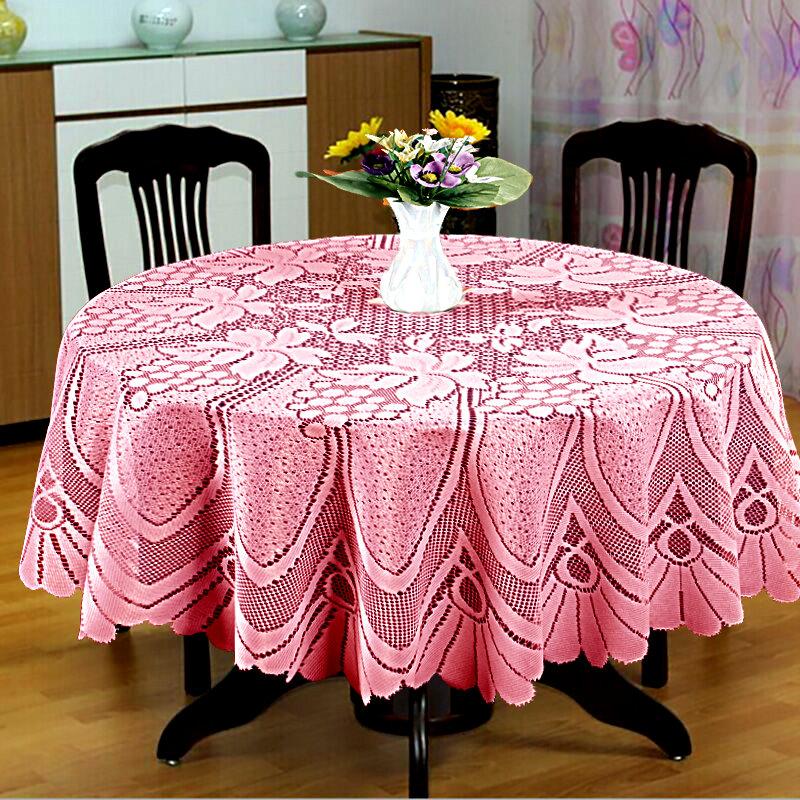 Скатерти и салфетки Elegante Скатерть Kerensa Цвет: Розовый (круглая 120 см) скатерти и салфетки elegante скатерть symphony цвет белый круглая 175 см