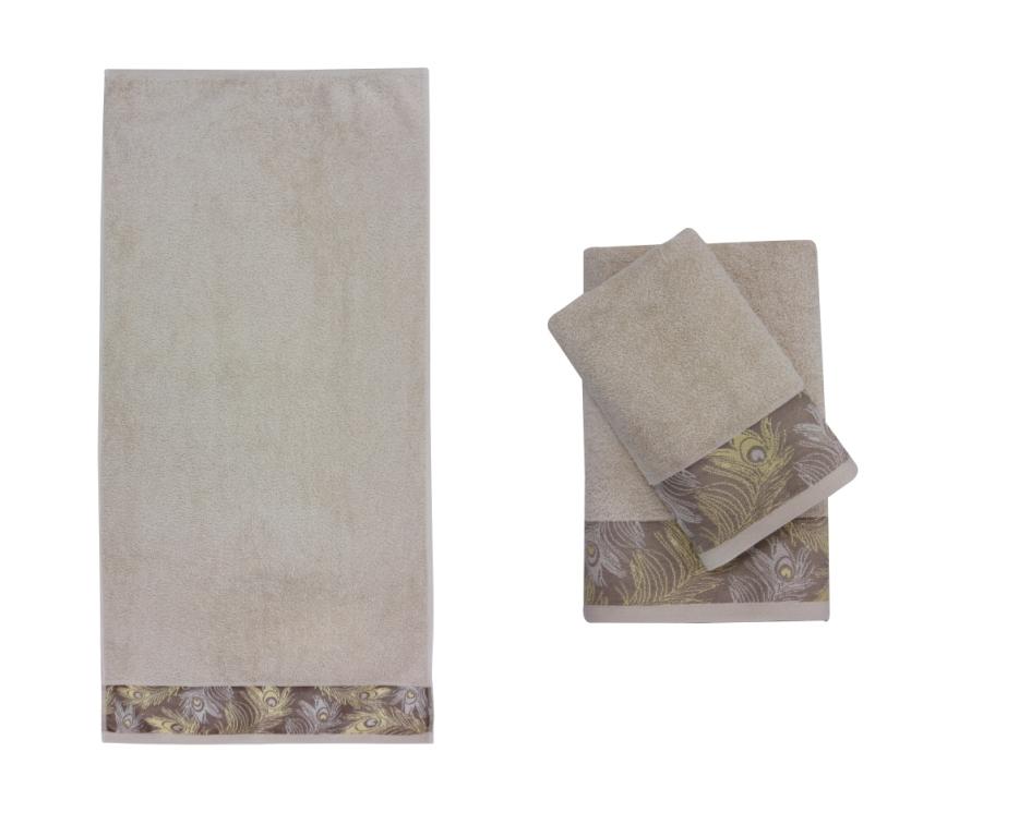 Купить Полотенца Roseberry, Полотенце Diritto Цвет: Бежевый (70х140 см), Турция, Махра