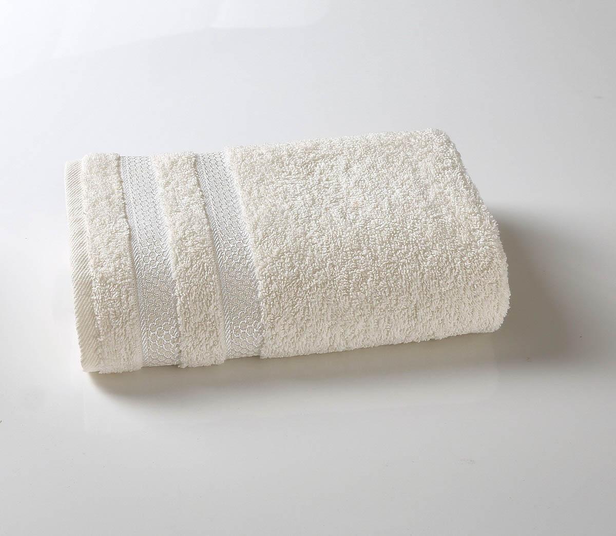 Полотенца Karna, Полотенце Petek Цвет: Кремовый (70х140 см), Турция, Махра  - Купить