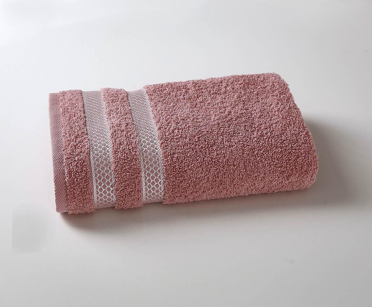 Купить Полотенца Karna, Полотенце Petek Цвет: Грязно-Розовый (100х150 см), Турция, Махра