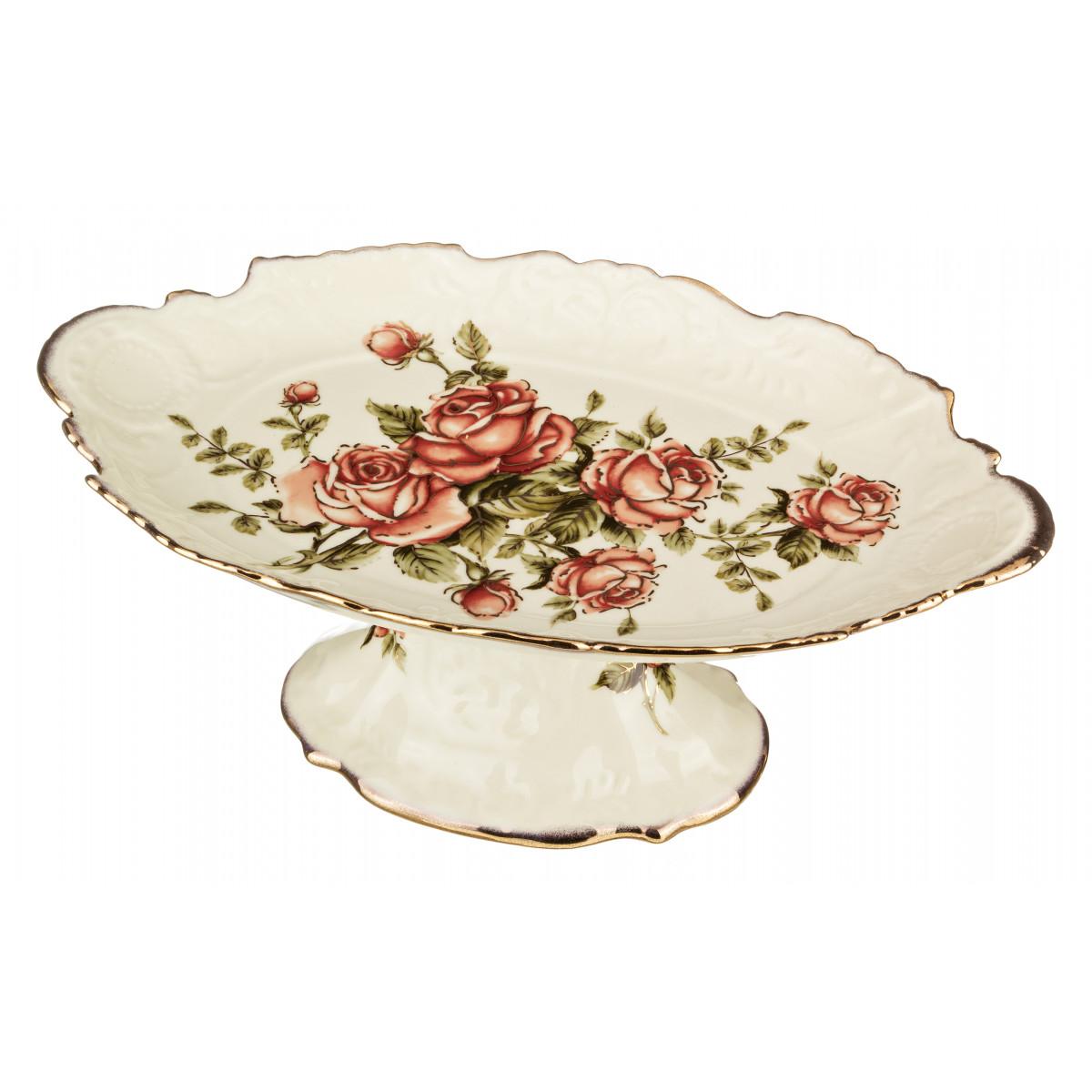 Вазы Lefard Ваза для фруктов Корейская Роза (13х21х35 см) вазы pavone ваза дикая роза