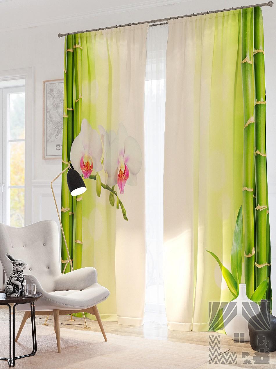 Шторы ТомДом Фотошторы Белая Орхидея шторы томдом фотошторы планетарный мегаполис