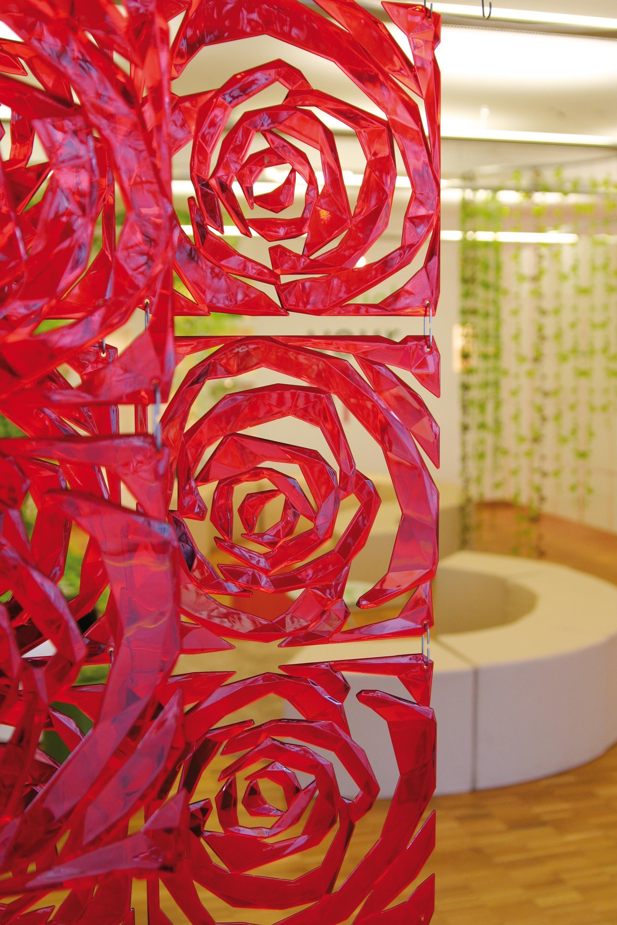 Купить Ширмы Koziol, Декоративная панель Kaylee Цвет: Красный (27х27 см), Германия, Пластик