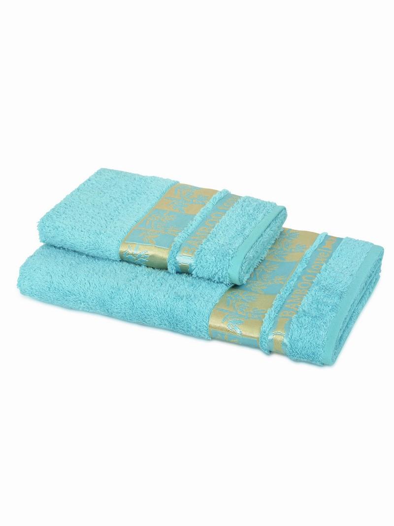 Купить Полотенца Amira, Полотенце Голд Цвет: Голубой (70х140 см), Турция, Махра