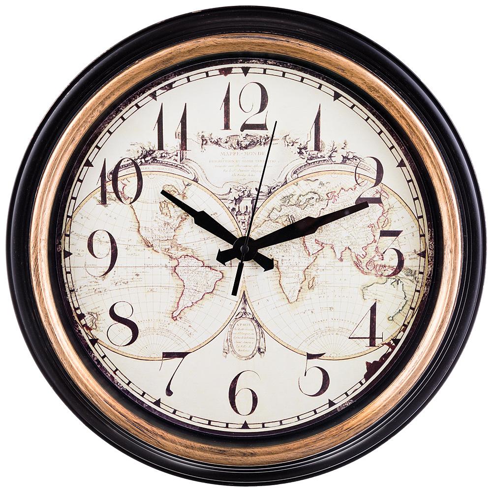 Часы настенные Word Map (36 см) Lefard lfr429731