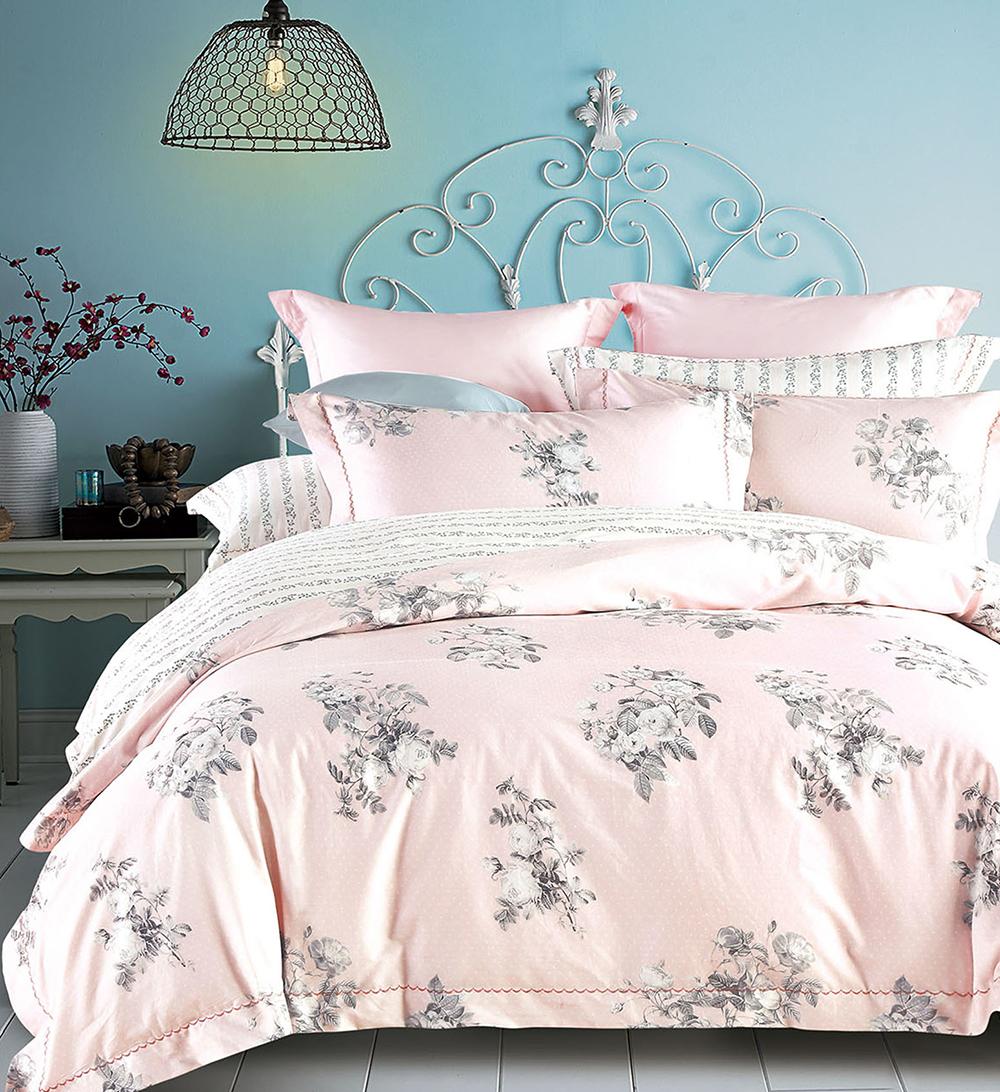 Комплекты постельного белья Tango, Постельное белье Christabel (семейное), Китай, Розовый, Хлопковый сатин  - Купить
