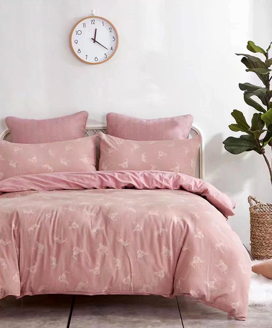 Купить Комплекты постельного белья Tango, Постельное белье Bithia (2 сп. евро), Китай, Розовый, Хлопковый сатин