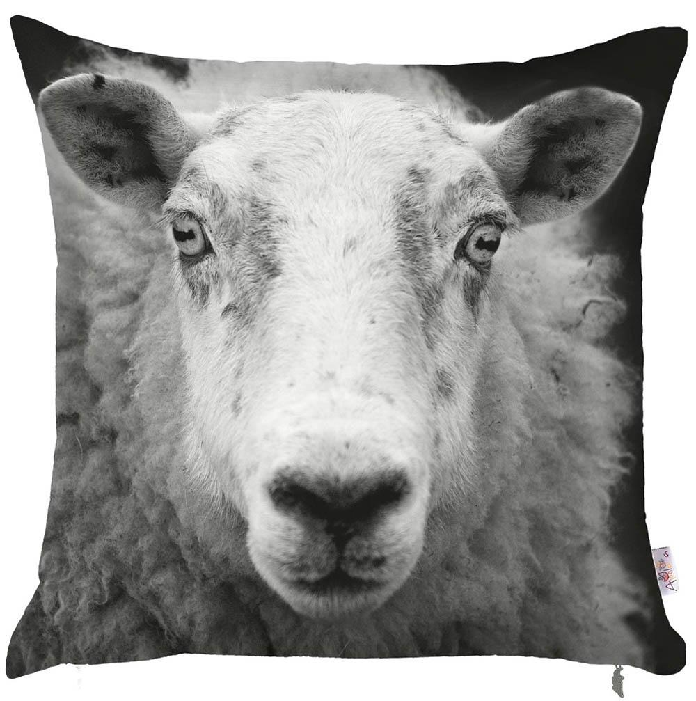 Купить Декоративные подушки Apolena, Декоративная наволочка Sheep (43х43), Россия-Турция, Микрофибра