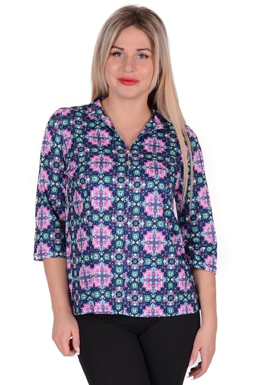 Блузка Livy Цвет: Розовый, Зелёный (48) фото