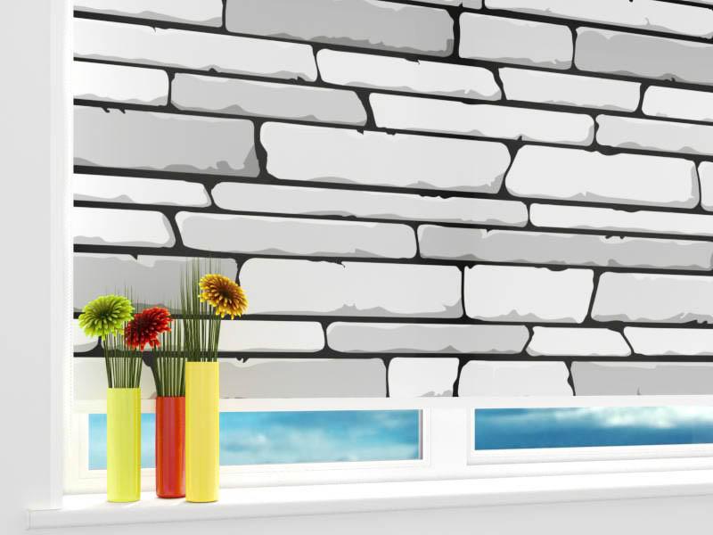 Римские и рулонные шторы StickButik Рулонные шторы Белые Камни