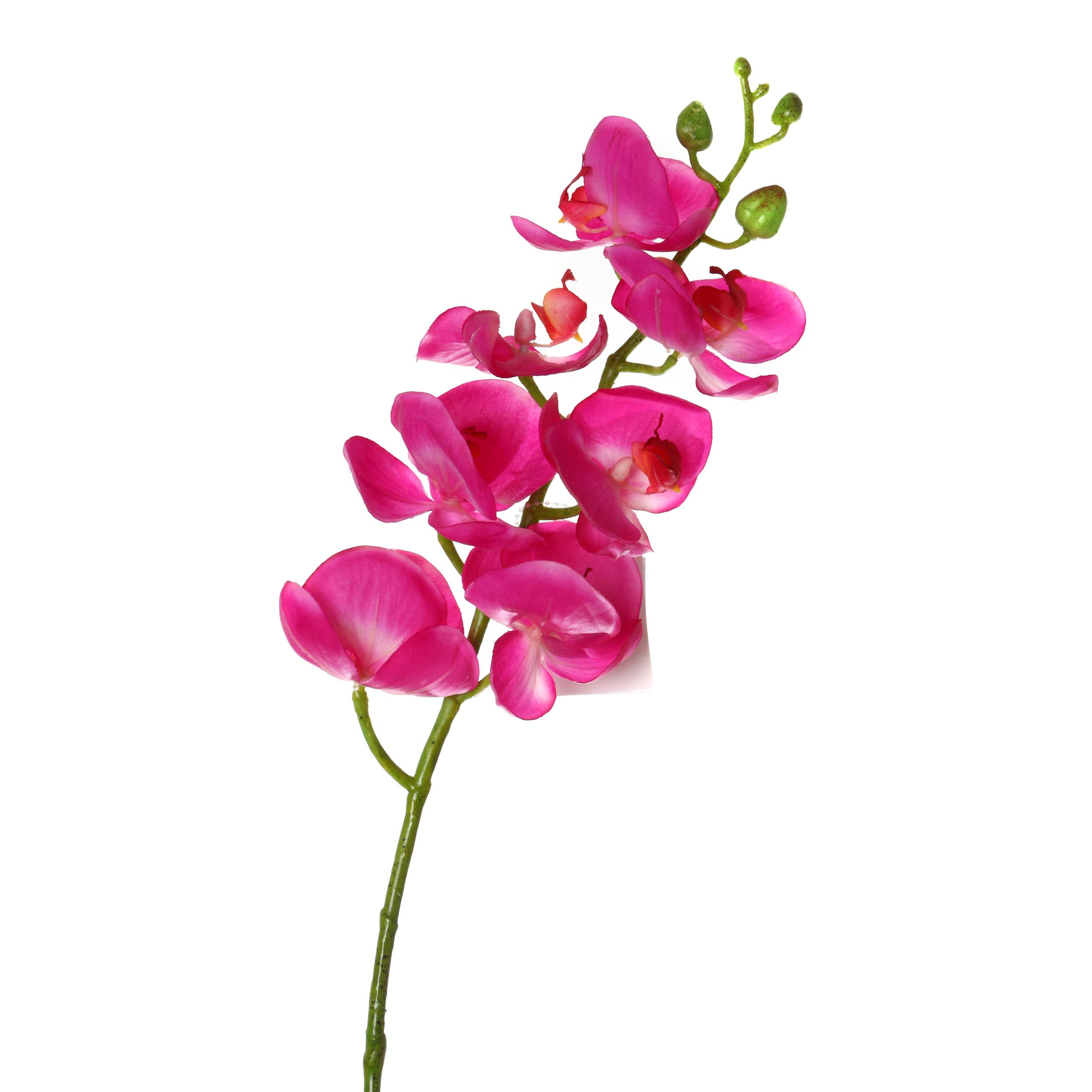 Купить Искусственные растения Arti-M, Искусственный цветок Орхидея (70 см), Китай, Бордовый, Полиэстер