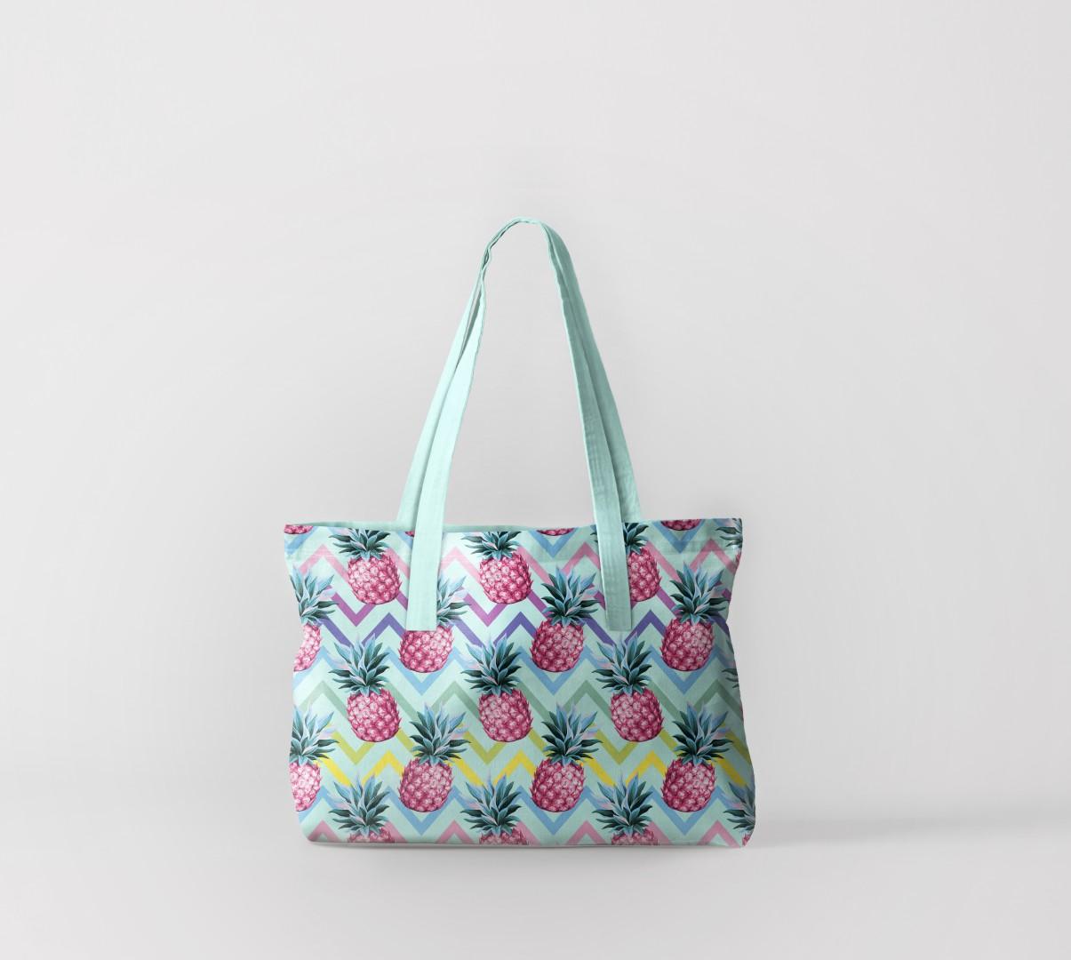 Пляжная сумка Ананасовые волны (50х40 см) Олимп Текстиль oli732550