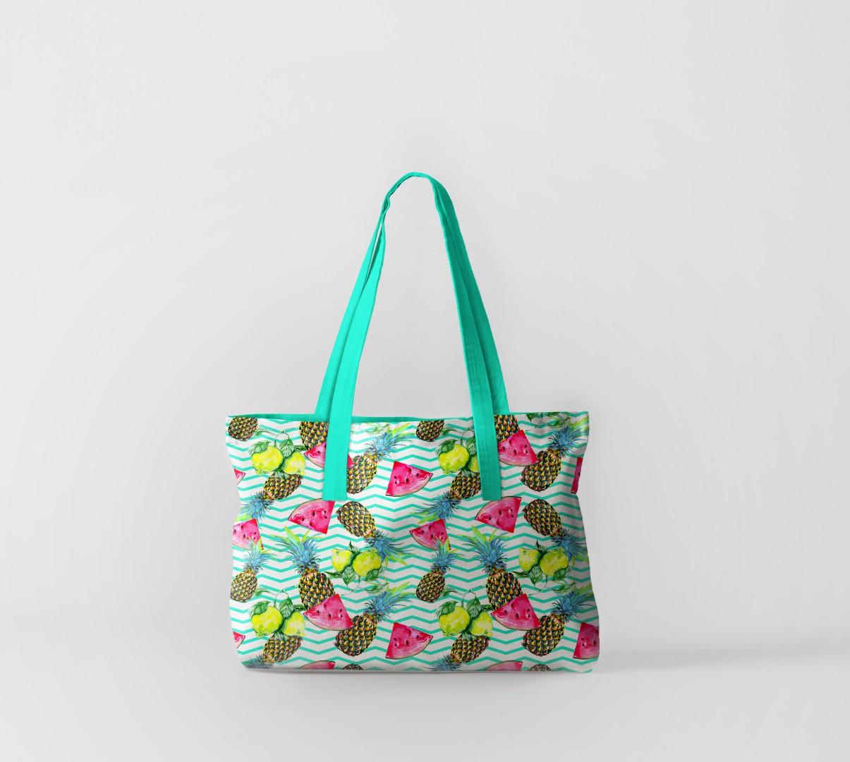 Пляжная сумка Арбузные дольки и ананасы (50х40 см) Олимп Текстиль oli732553