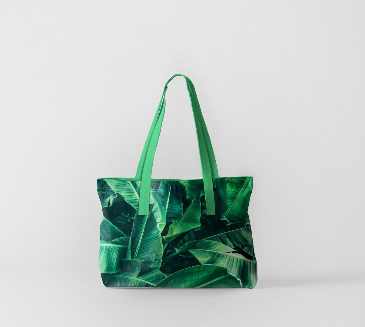 Пляжная сумка Банановые листья (50х40 см) Олимп Текстиль oli732555