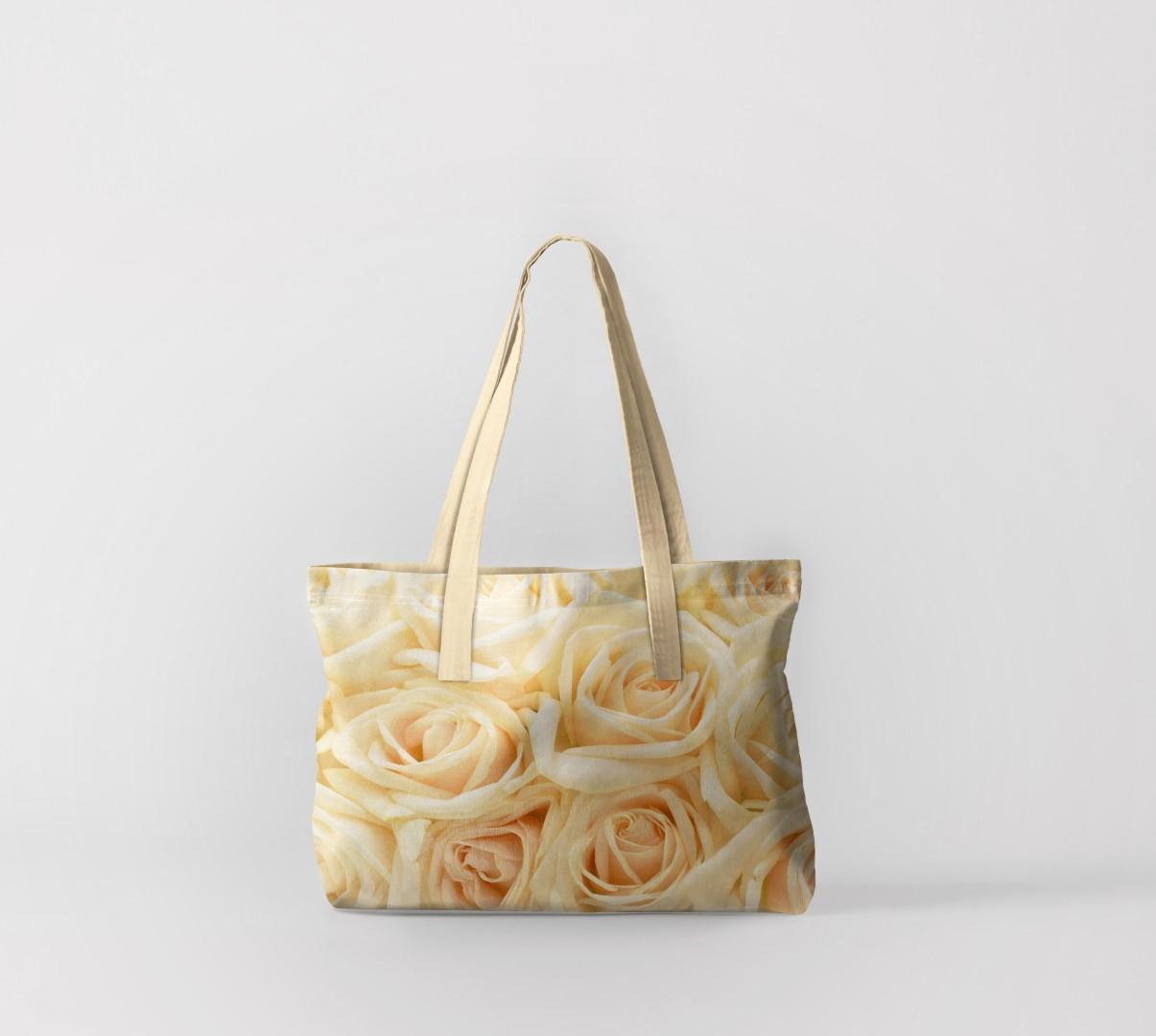Пляжная сумка Бежевые розы (50х40 см) Олимп Текстиль oli732556