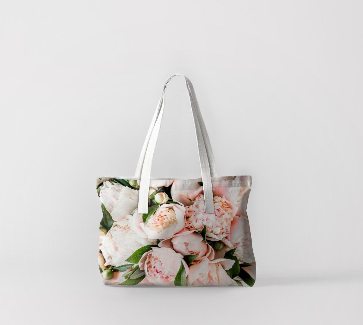 Пляжная сумка Букет нежных розовых пионов (50х40 см) Олимп Текстиль oli732559