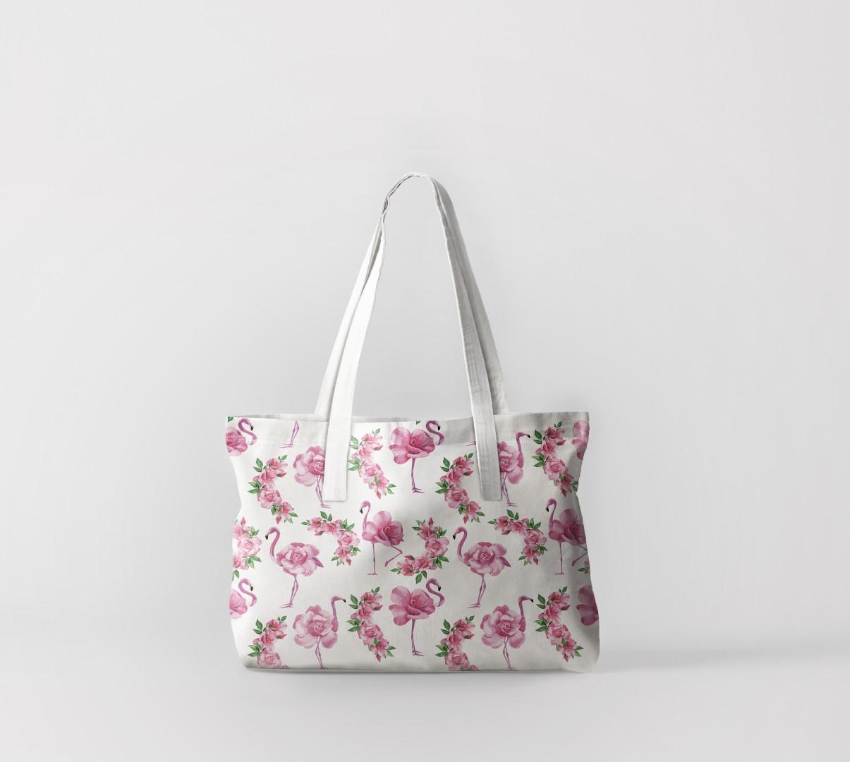 Пляжная сумка Фламинго из розы (50х40 см) Олимп Текстиль oli732598