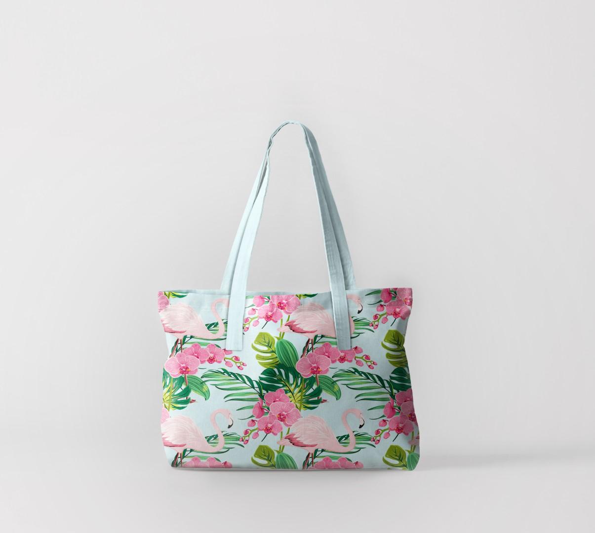Пляжная сумка Фламинго на цветах (50х40 см) Олимп Текстиль oli732600