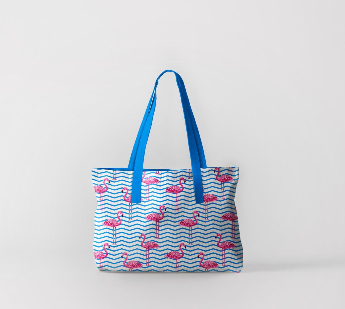 Пляжная сумка Фламинго на волнах (50х40 см) Олимп Текстиль oli732599