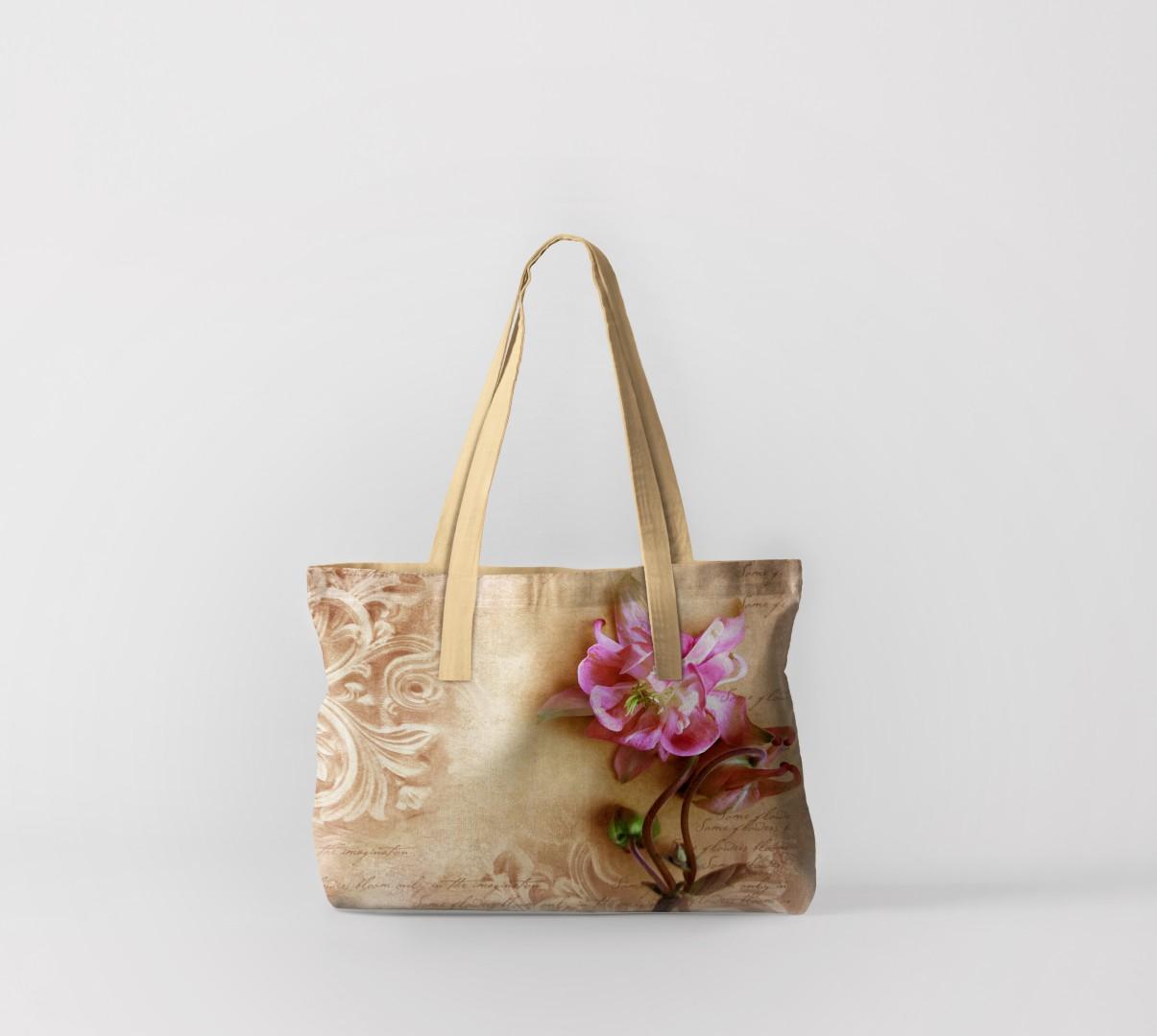Пляжная сумка Фреска с цветком 1 (50х40 см) Олимп Текстиль oli732607