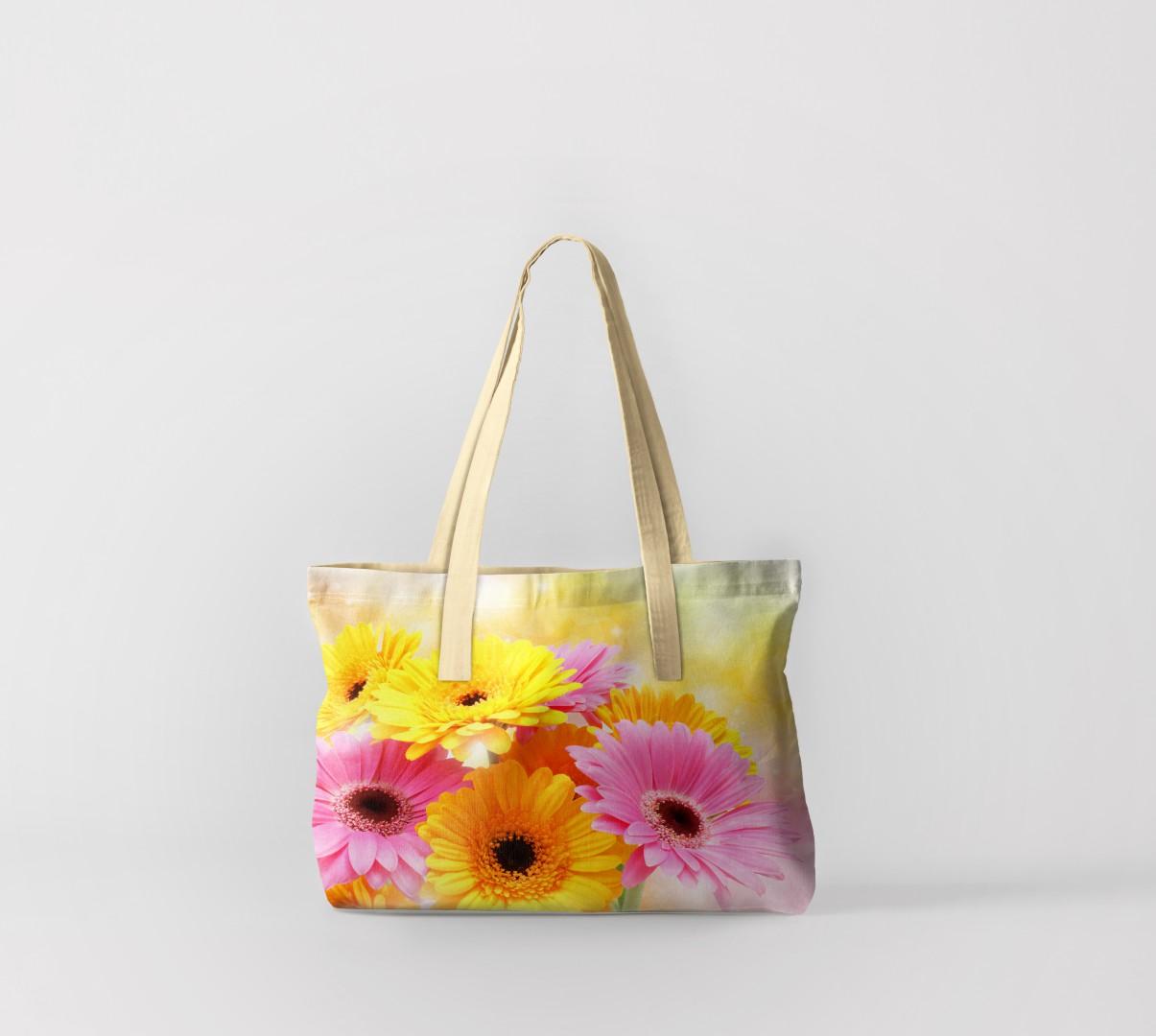 Пляжная сумка Герберы (50х40 см) Олимп Текстиль oli732563